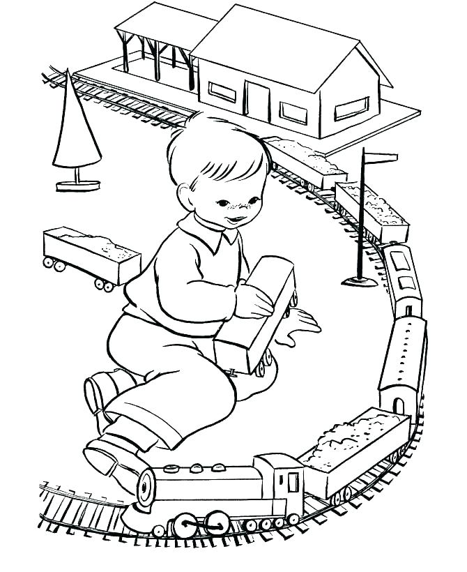 670x820 Beautiful Train Track Coloring Page In Gallery Coloring Ideas