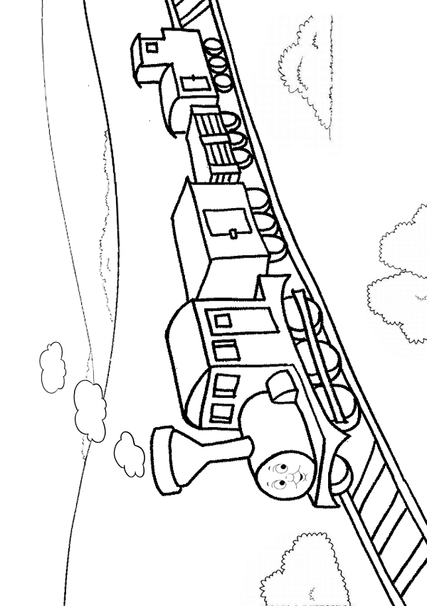 600x850 Free Online Printable Kids Colouring Pages Train Tracks Coloring