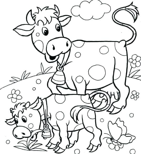 536x587 Coloring Pages Of Animals And Their Babies Fuhrer Von
