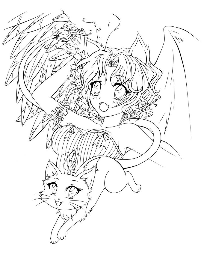 830x1024 Anime Angel Coloring Pages To Print To Print Coloring For Kids