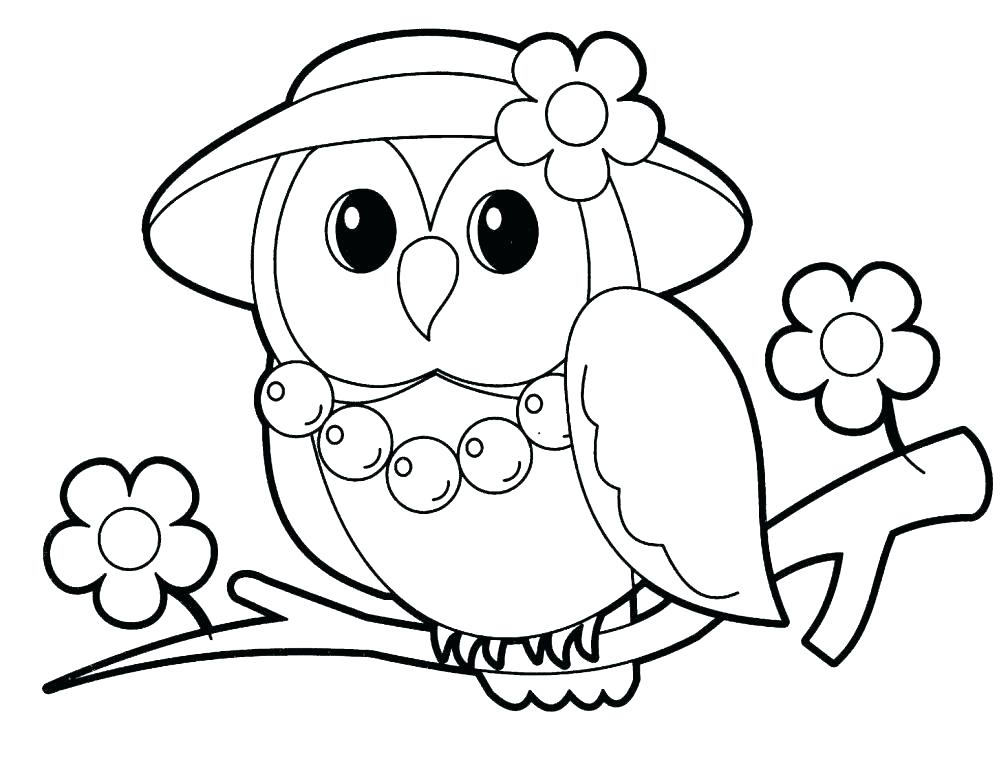 1008x768 Cartoon Animals To Color Cute Coloring Pages Animals Anime