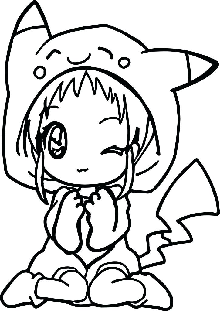 725x1024 Free Printable Anime Coloring Pages Anime Animal Coloring Pages