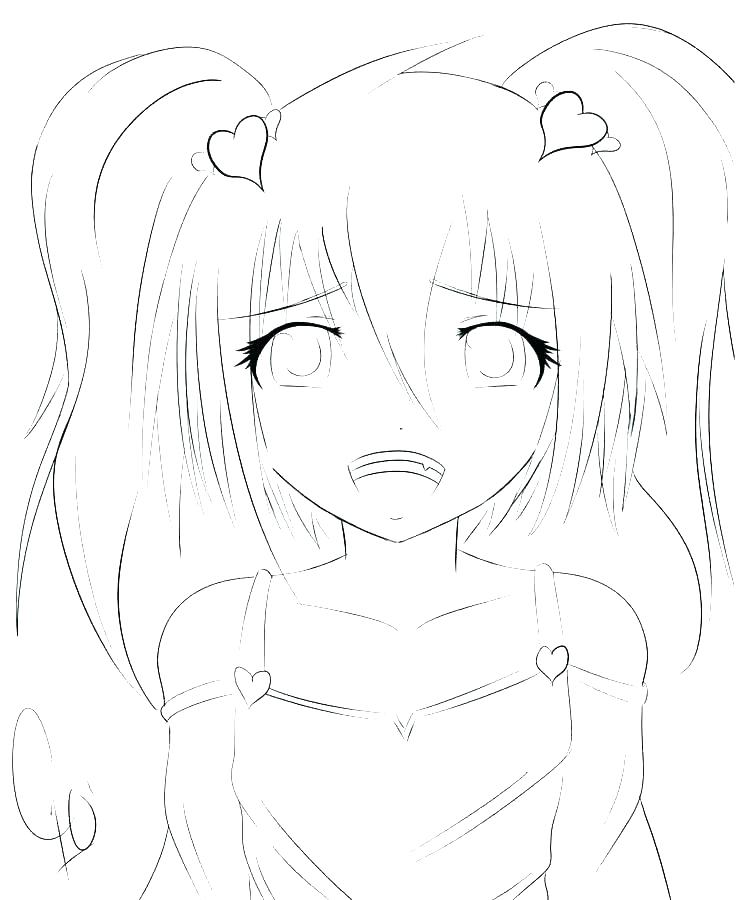 736x900 Anime Girls Coloring Pages Anime Girl Coloring Page Anime Girls