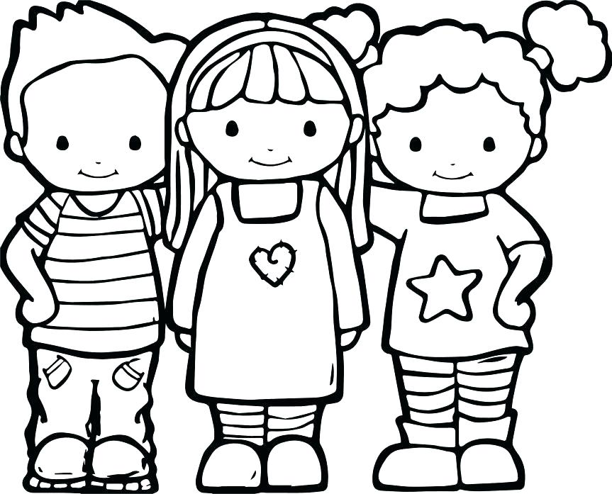 863x697 Best Friends Coloring Pages Here Are Best Friends Coloring Pages