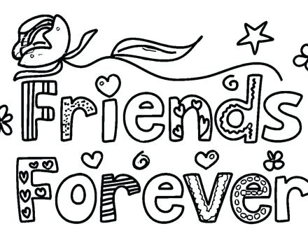 440x330 Free Printable Friends Coloring Pages Anime Best Forever Page Home