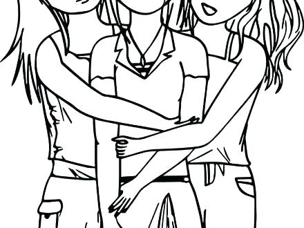 440x330 Friends Coloring Pages Coloring Pages Plus Three Best Friends