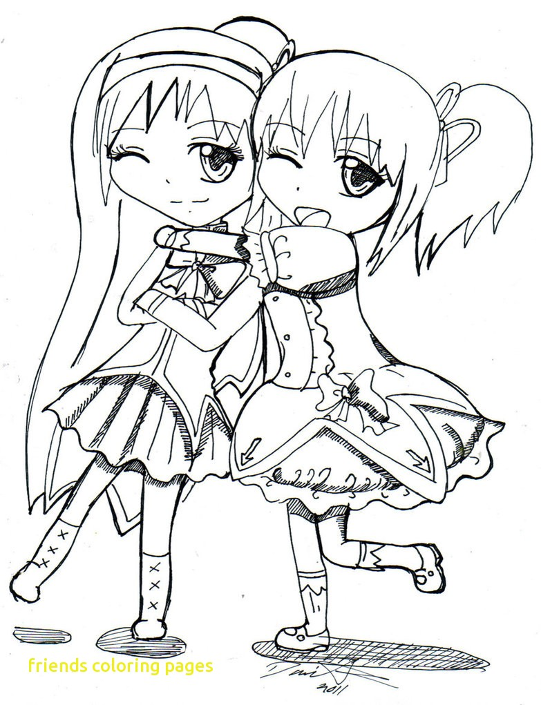 783x1021 Friends Coloring Pages With Anime Best Friends Coloring Pages