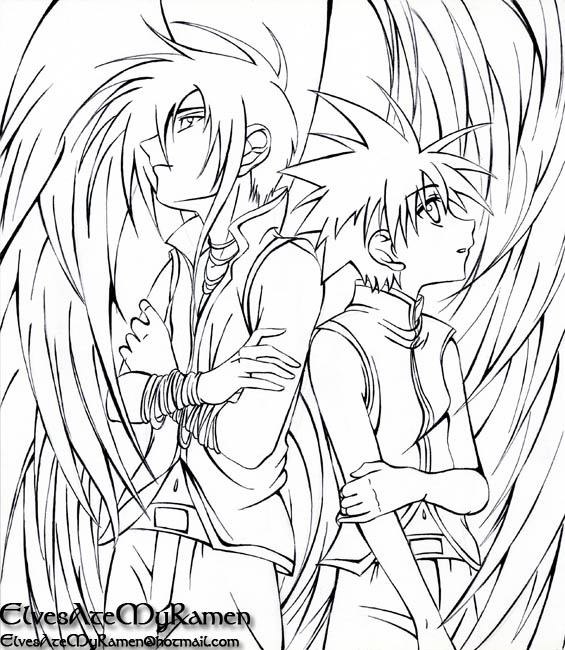 565x650 Anime Angel Coloring Pages