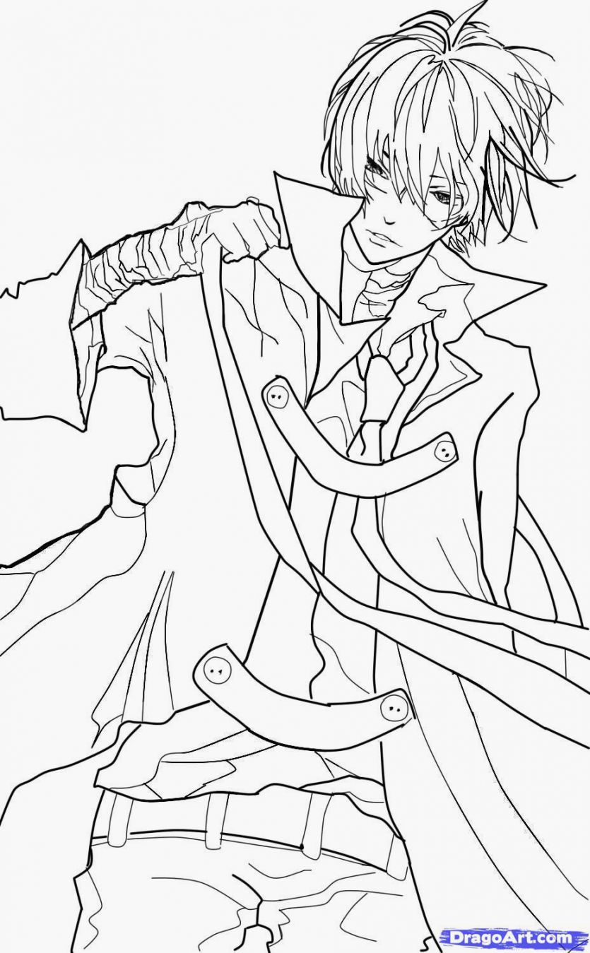 835x1349 Anime Boys Coloring Pages Home Throughout Boy