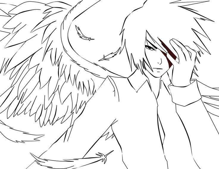 736x568 Best Anime Boy Coloring Pages Free Printable