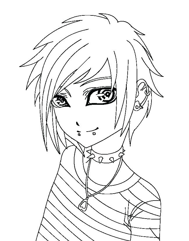 650x828 Boy Coloring Pages Free Printable Anime Coloring Pages Anime Boy