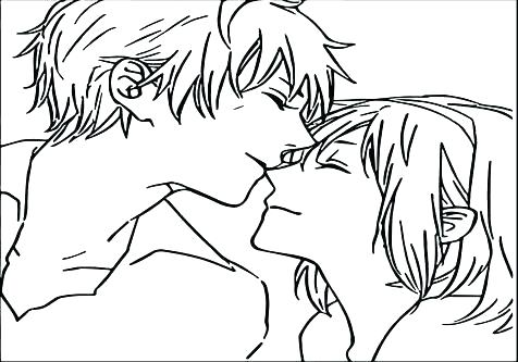 476x333 Anime Boy And Girl Coloring Pages Printable Coloring Boy Coloring