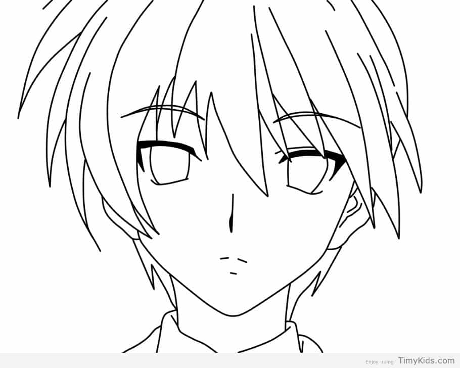 910x728 Anime Boy Coloring Pages Timykids