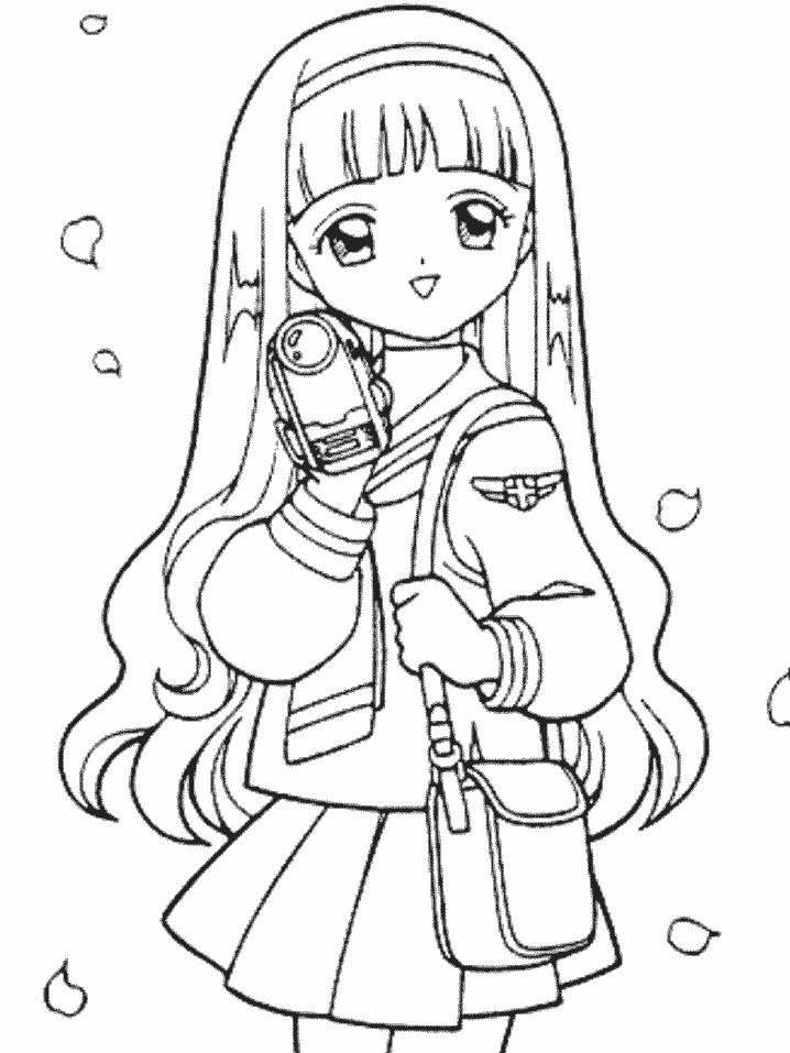 Anime Cartoon Coloring Pages