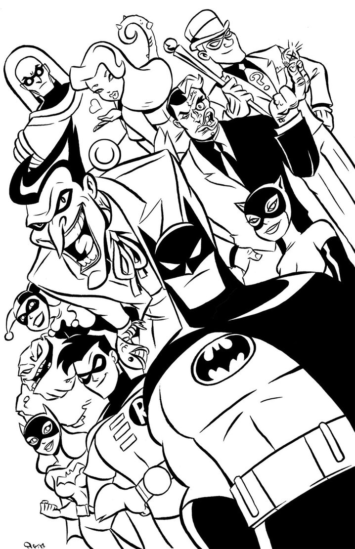 718x1111 Batman The Animated Series Coloring Pages To Print Coloring