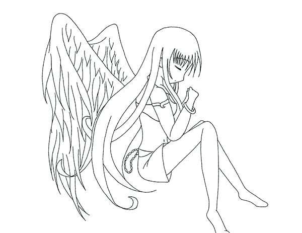 600x463 Coloring Pages For Kids Online Anime Cartoon Download Free Angel