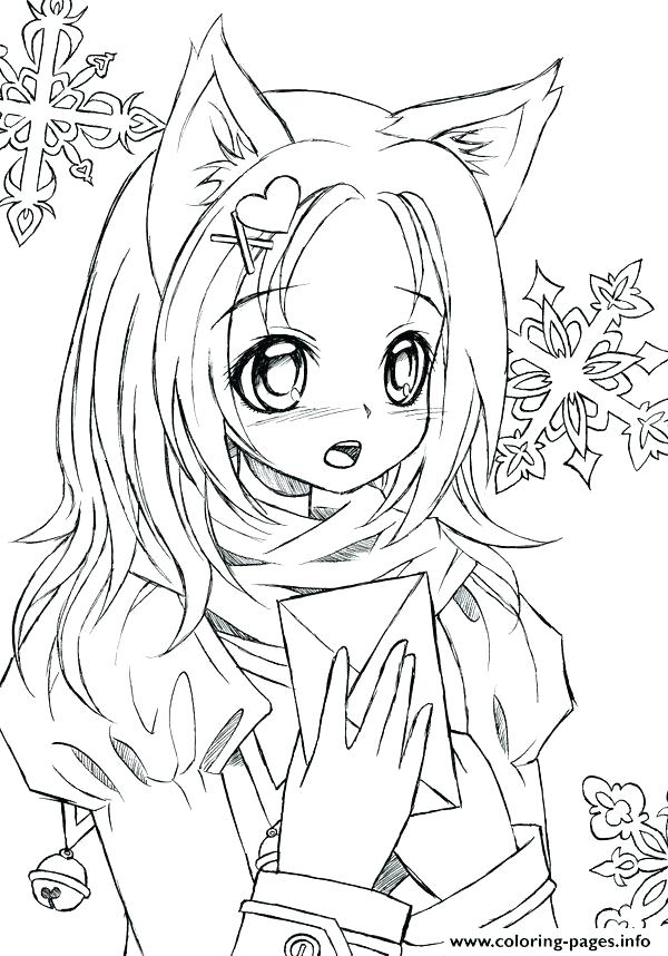 600x858 Cute Anime Coloring Pages To Print Printable