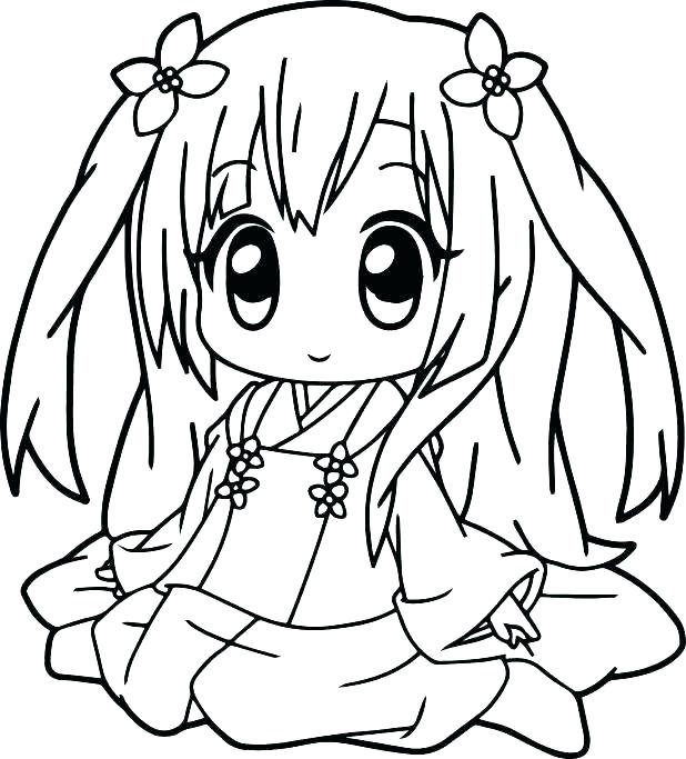 618x683 Cute Girl Coloring Pages Anime Girl Coloring Page Coloring Pages