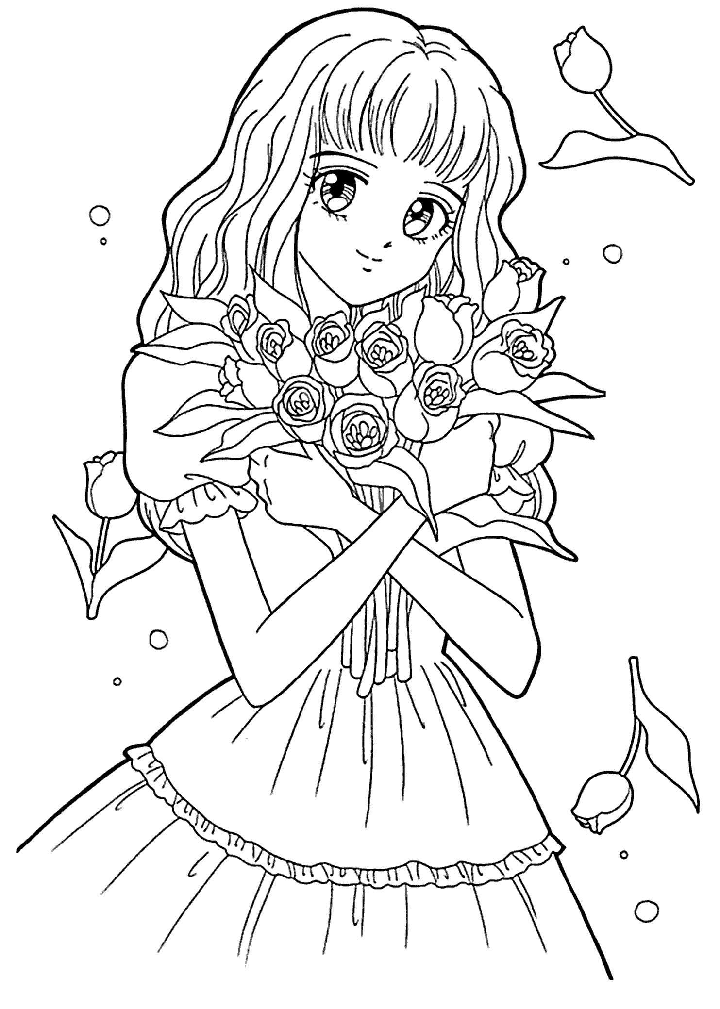 1483x2079 Fresh Anime Cartoon Coloring Pages