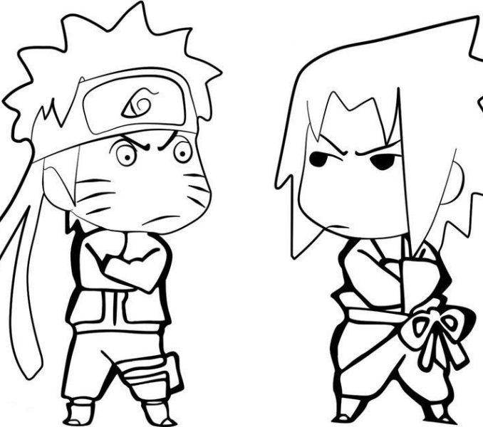 678x600 Naruto Colored Pages Coloring Pages Anime Naruto Sasuke Free