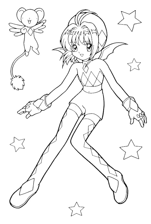 590x870 Anime Cartoon Coloring Pages
