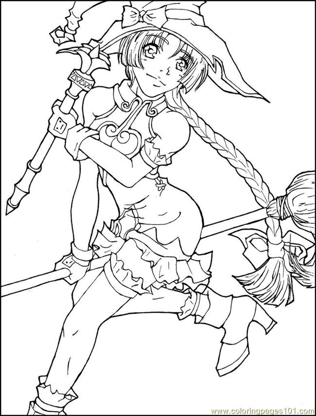 650x854 Anime Cartoon Coloring Pages