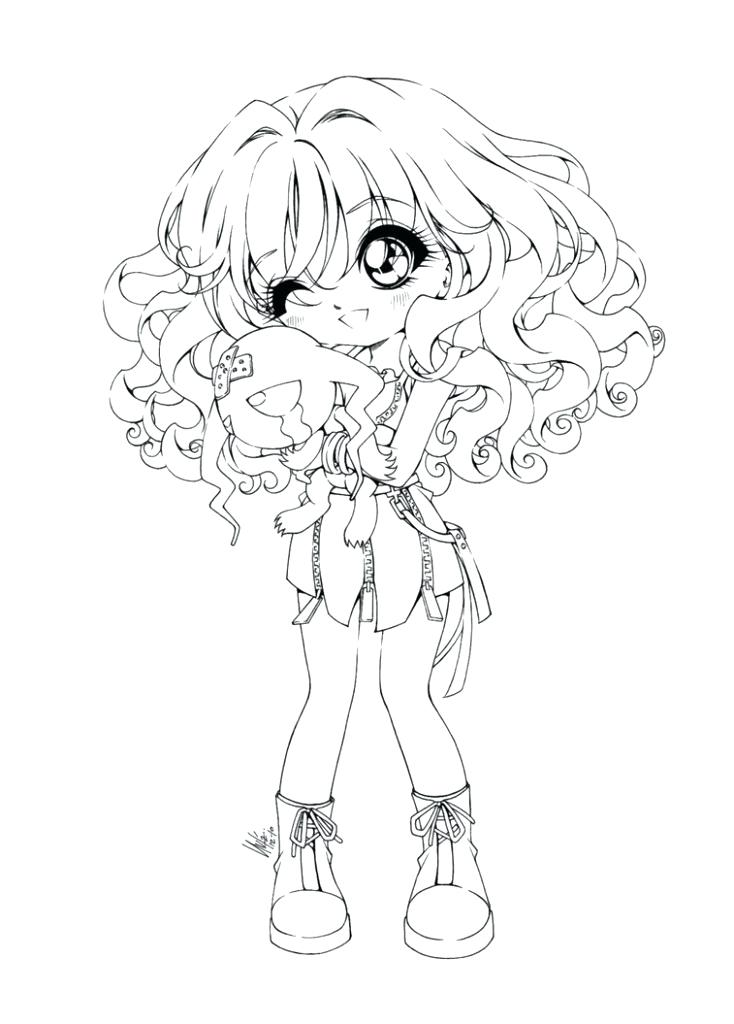 734x1024 Anime Coloring Pages Chibi Anime Girl Coloring Pages Cute Chibi