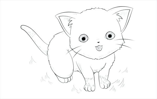 600x380 Anime Coloring Pages Free Document Download Anime Cat Coloring