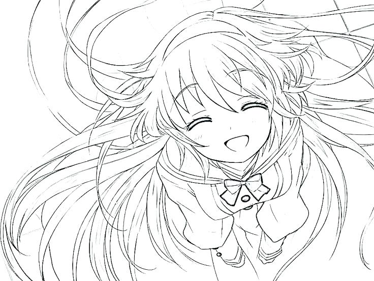 736x552 Cute Anime Coloring Pages Cute Girl Coloring Pages Printable