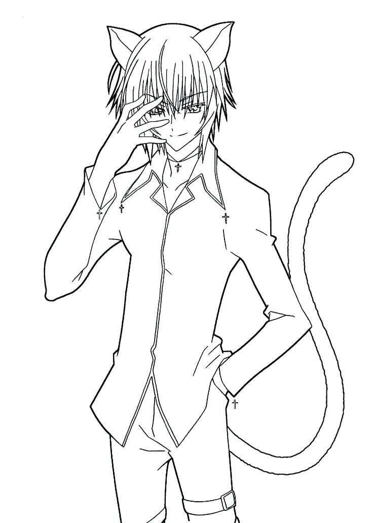 736x1031 Anime Cat Girl Coloring Pages Manga Girl Coloring Pages Anime Cat