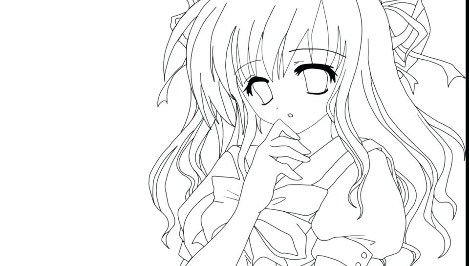 960x544 Anime Girl Coloring Page For Kids To Print Free Printable Pages