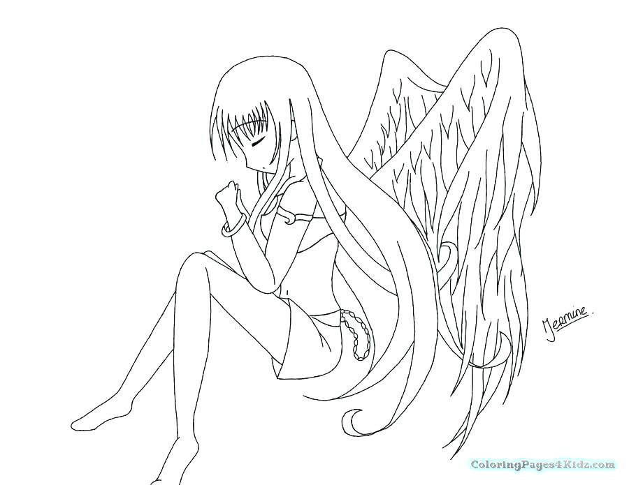 900x695 Anime Cat Girl Colouring Pages Printable Coloring Anime Angel