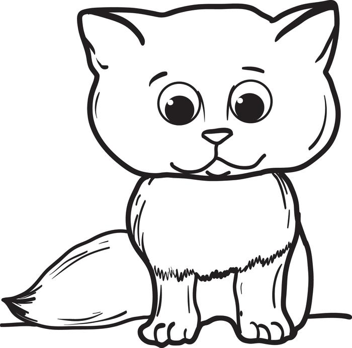 700x693 Cartoon Cat Coloring Pages Free Printable Cartoon Cat Coloring