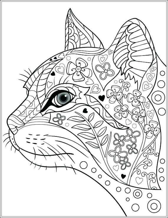 570x738 Coloring Pages Of Cats Anime Cat Coloring Pages Cute Anime Cat