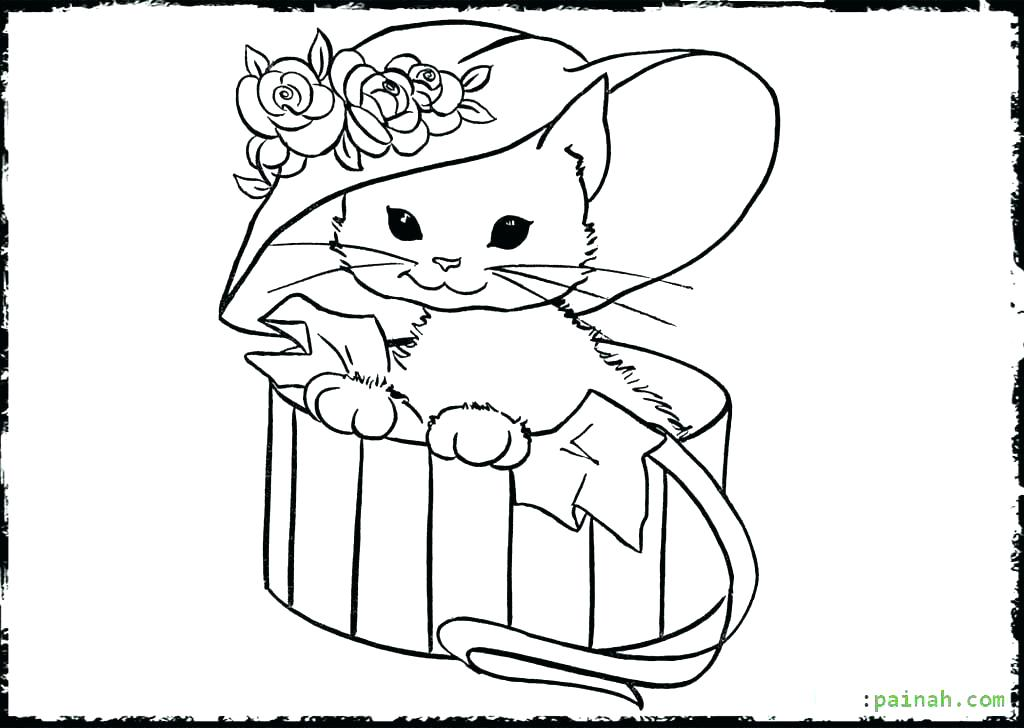 1024x728 Cute Cat Coloring Pages Coloring Pages Kittens Astonishing