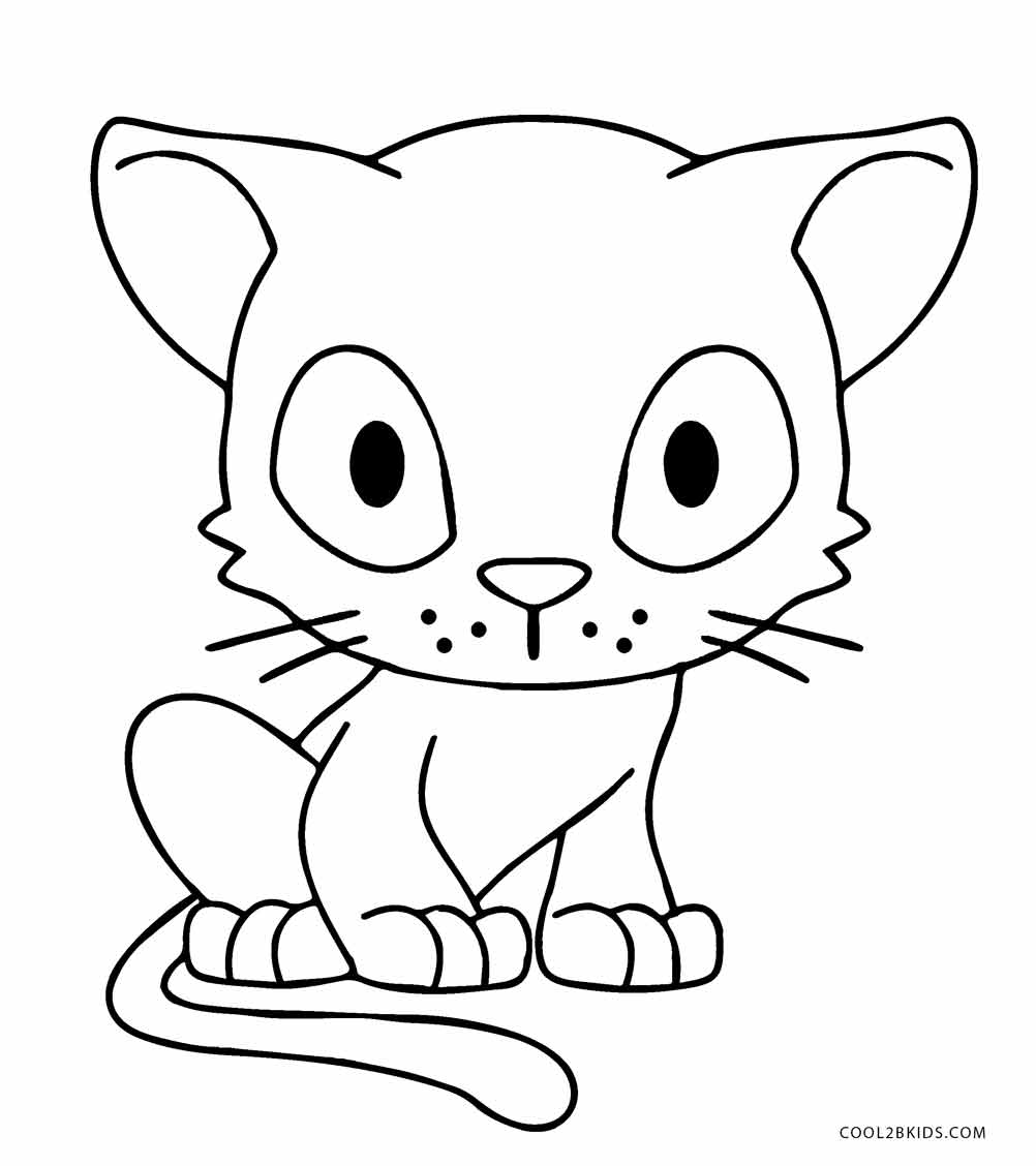 1002x1128 Free Printable Cat Coloring Pages For Kids