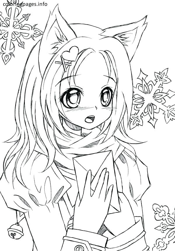 600x858 Anime Girl Coloring Page For Kids To Print Free Printable Pages