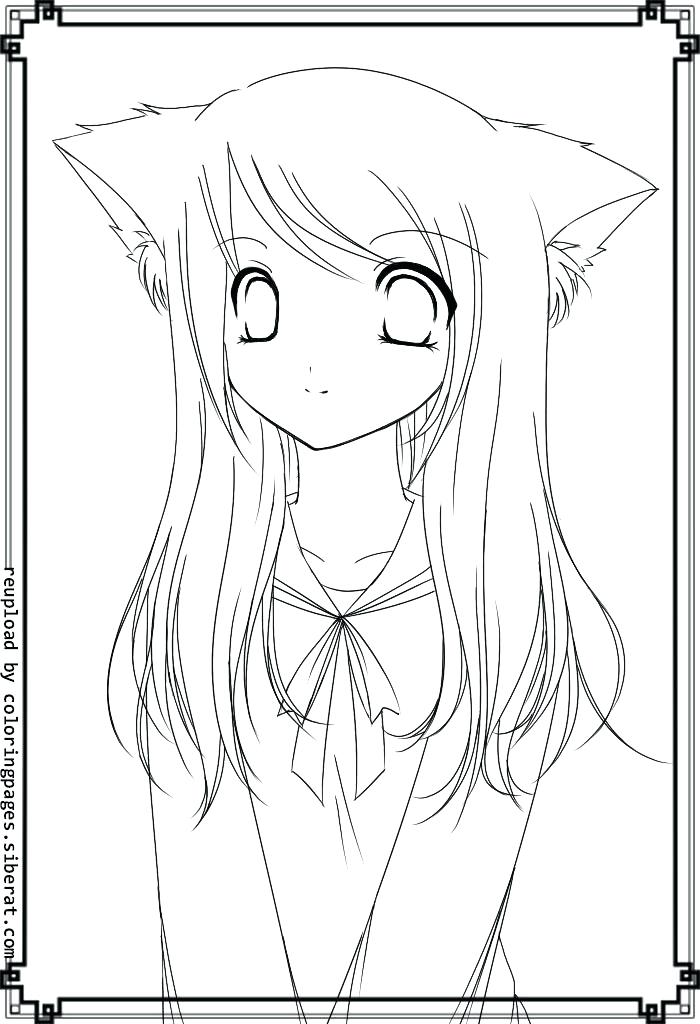 700x1024 Best Of Cute Coloring Pages For Girls Pictures Anime Fox Girl Cute