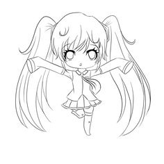 Anime Chibi Coloring Pages At Getdrawingscom Free For Personal