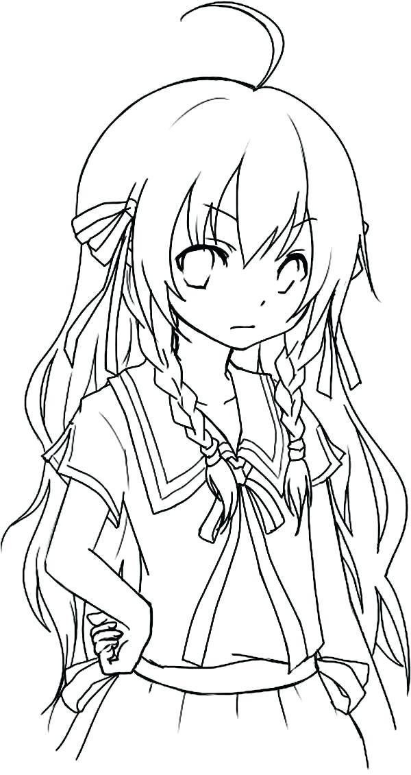 600x1130 Chibi Coloring Page Cute Printable Sheets Cute Anime Chibi