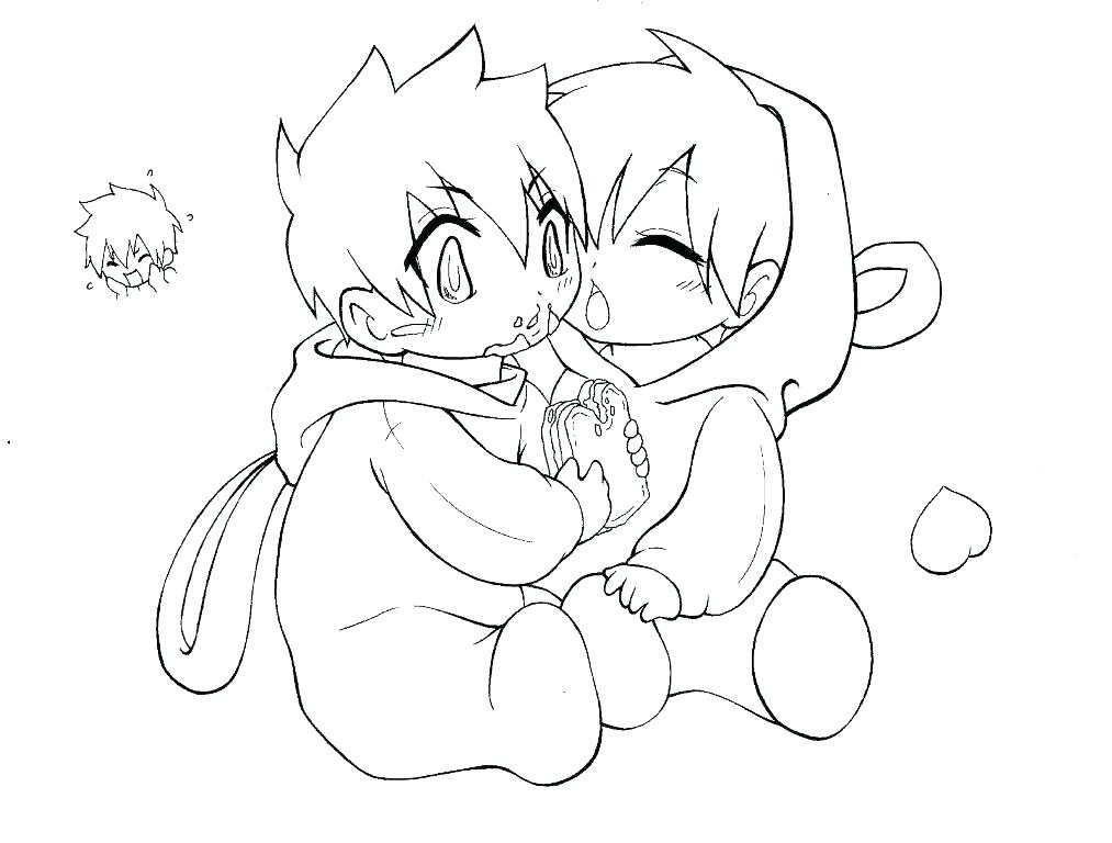 1013x768 Cute Chibi Coloring Pages Anime Couple Coloring Collection
