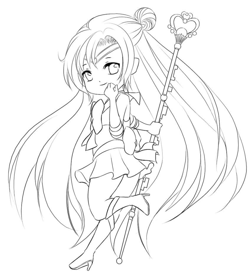 844x947 Free Chibi Coloring Pages For Kids Anime Chibi