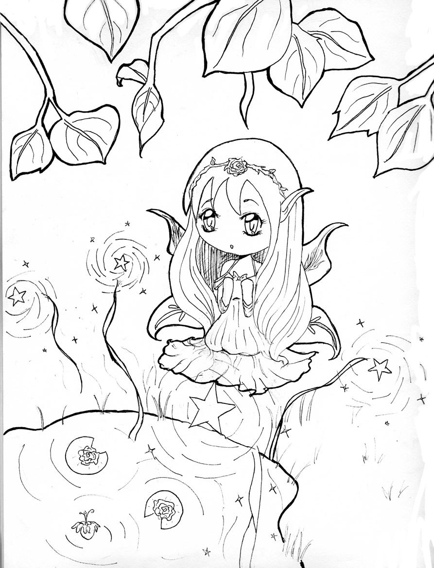 893x1170 Lovely Cute Anime Chibi Coloring Pages For Kids Womanmate Free