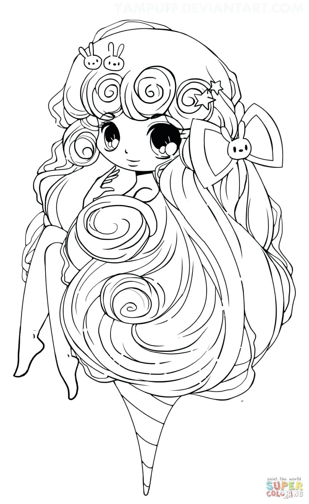 1024x1666 Coloring Pages Chibi Coloring Pages Click The Cotton Candy Girl