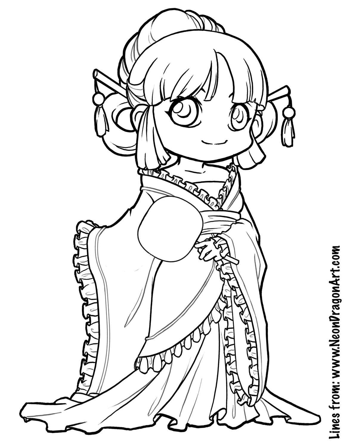 1167x1500 Cute Anime Coloring Pages