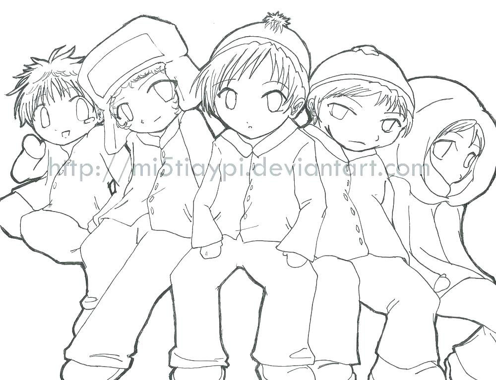 1000x767 South Park Coloring Pages South Park Coloring Pages Anime Sty