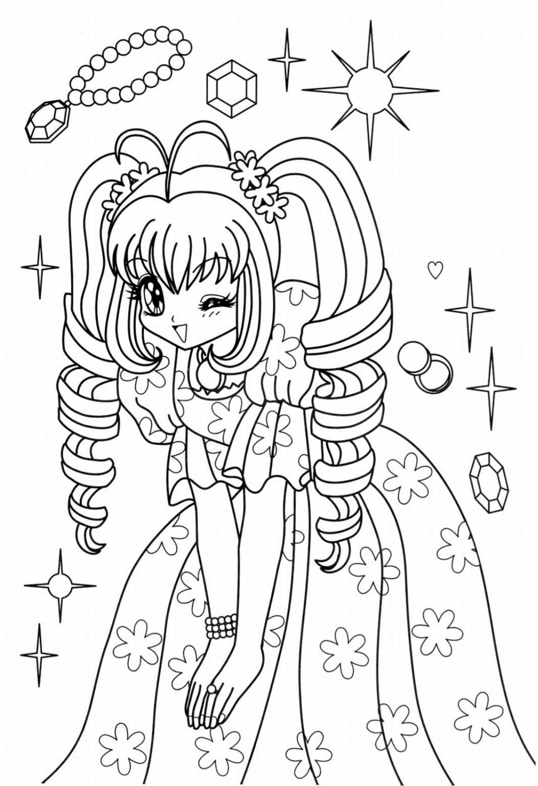 1052x1538 Anime Christmas Coloring Pages