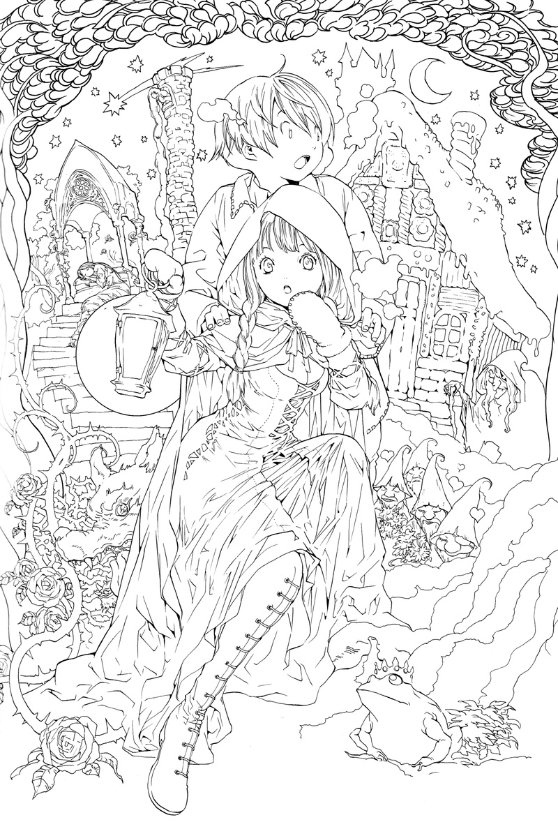 800x1178 Awesome Anime Coloring Pages For Adults