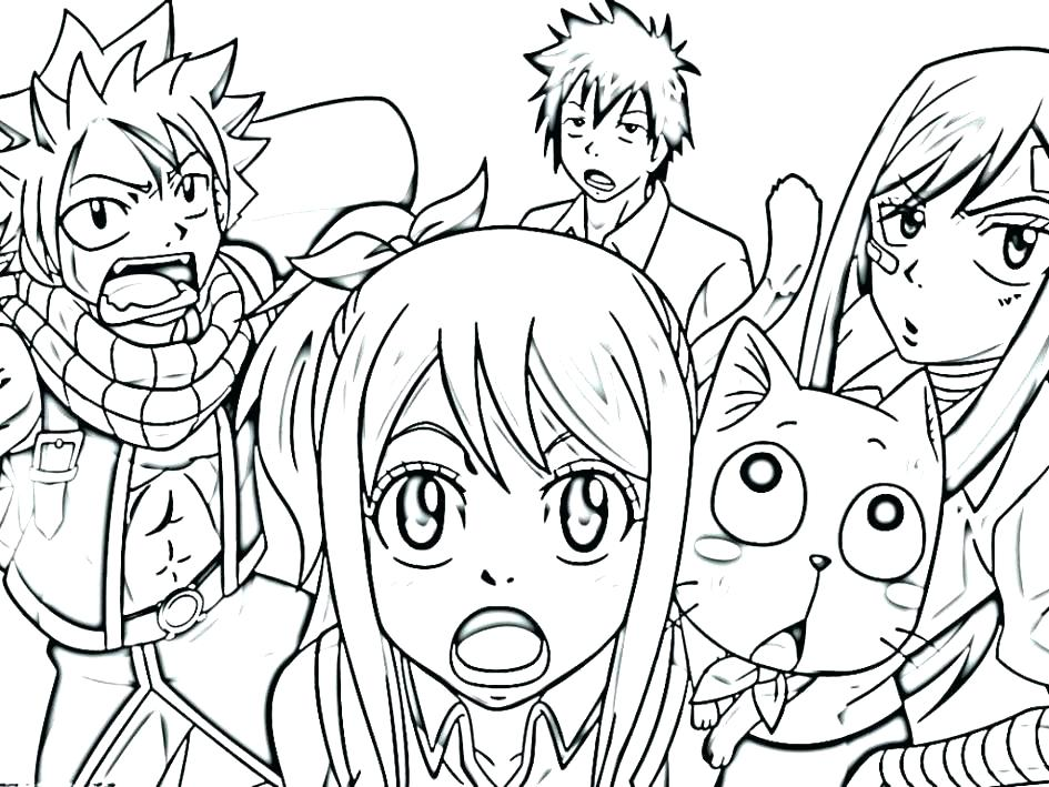 945x709 Fairy Tail Color Pages Fairy Tail Anime Coloring Pages Anime