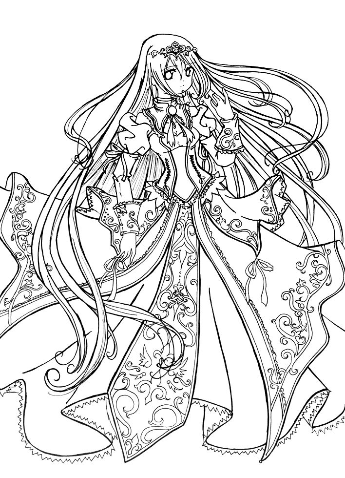 708x979 Princess Coloring Pages Love The Anime This Would Be Cool